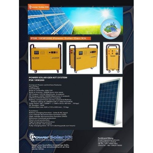Power Solar Gen Kit System 1K/200